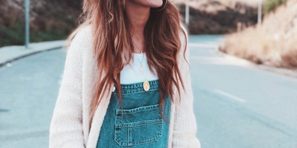*Denim + Cardigan*
